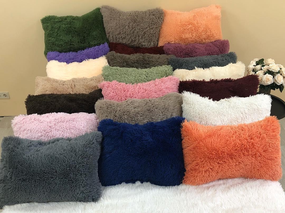 Пухнаста подушка - травичка, 50/50 см , кольору різні