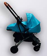 Коляска YOYA plus Pro + блок для новорожденных Гглубой