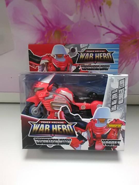 Трансформер мотоцикл красный в коробке
