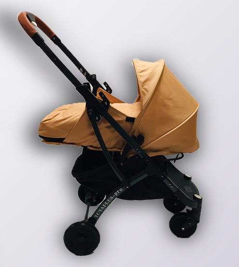 Коляска YOYA plus Pro + блок для новонароджених Бежевий