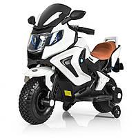 Электромотоцикл детский Bambi M 3681AL-1 | От 3 до 8 лет, нагрузка до 60 кг | 2 мотора по 18 W | MP3, USB