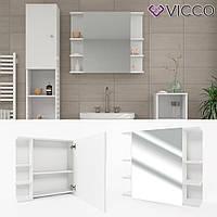 Зеркальный шкаф в ванную 64x80 Vicсo Fynn, белый