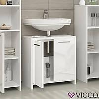 Vicco шкафчик под умывальник Kiko, тумба под раковину, 58x60, цвет белый глянец