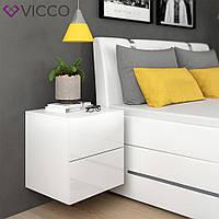 Vicco тумбочка для спальни Charles, 50x51, цвет белый глянец