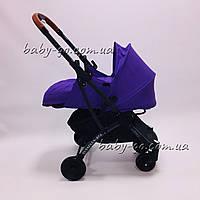 Коляска YOYA plus Pro + блок для новорожденных Фиолетовый