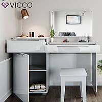 Vicco туалетный столик Lilli Small, 135x90, цвет белый глянец