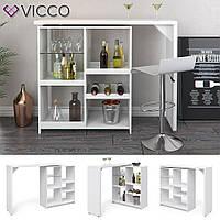Vicco барная стойка Vega, кухонный стол с полками, 138x111, цвет белый