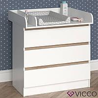 Vicco комод для пеленания Emma, 80x78, цвет белый, сонома