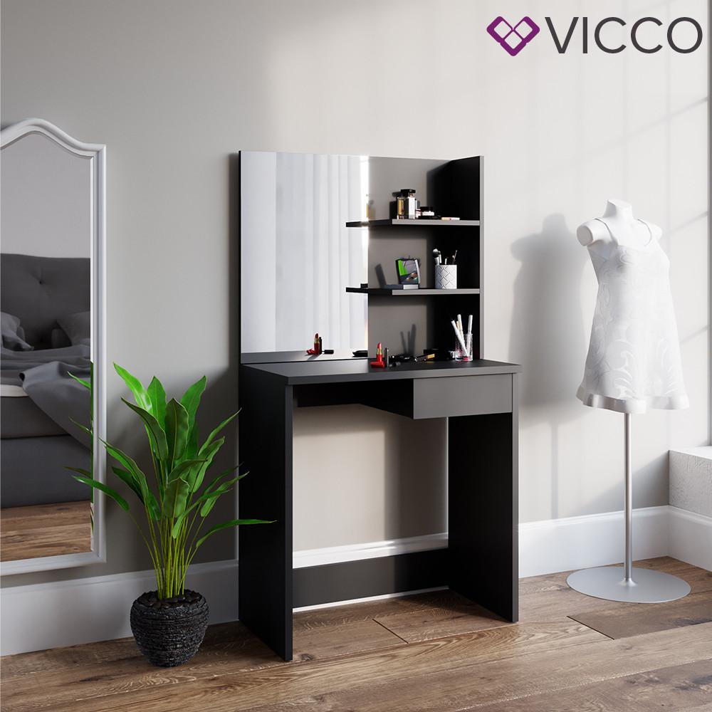 Vicco туалетний столик Dekos, 75x141, колір чорний