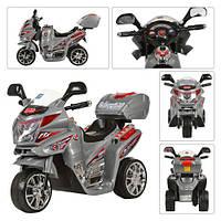 Детский мотоцикл M 0567 на аккумуляторе, серый