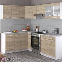 Vicco кухня Rick, кухонный модуль, комплект мебели на кухню 230 см, цвет сонома