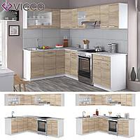 Vicco кухня Rick, кухонный модуль, комплект мебели на кухню 250 см, цвет сонома