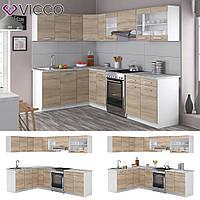 Vicco кухня Rick, кухонный модуль, комплект мебели на кухню 270 см, цвет сонома