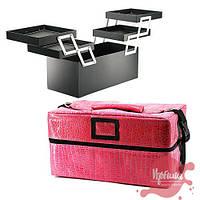 Сумка  для мастера маникюра/парикмахера/визажиста, розовый крокодил