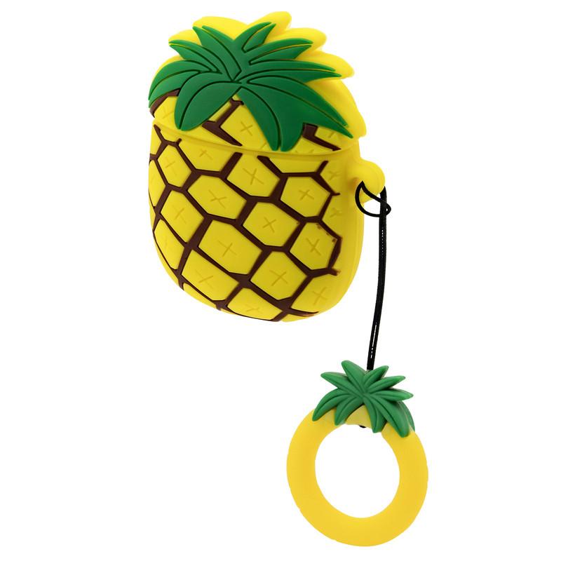 Силиконовый чехол для наушников AirPods Emoji Pineapple