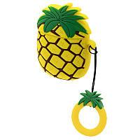 Силиконовый чехол для наушников AirPods Emoji Pineapple, фото 1