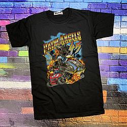 Футболка чёрная Palm Angels Car 45 • Палм Анджелс футболка