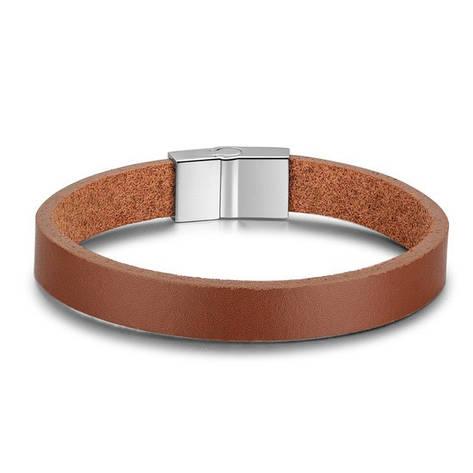 """Кожаный браслет с магнитной застежкой """"La Brown"""", фото 2"""