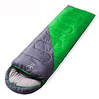 Спальний мішок-ковдра з капюшоном Zelart, PL,бавовна, 1000гр/м2, р-н 190+30х75см., зелений (СПО SY-D02)