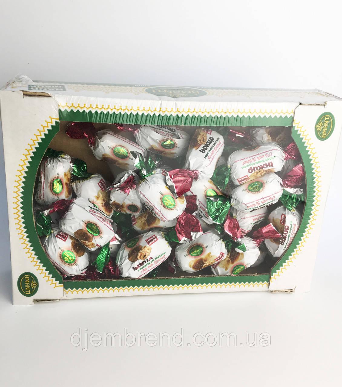 Конфеты Amanti Инжир с грецким орехом, Украина, 1 кг.