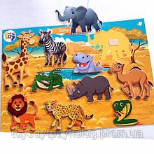 Гра на липучках Тварини Африки