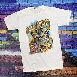 Футболка белая Palm Angels Car 45 • Палм Анджелс футболка