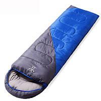 Спальный мешок одеяло с капюшоном Zelart, PL,хлопок, 1000гр/м2, р-р 190+30х75см., синий (СПО SY-D02), фото 1