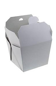 Коробка бумажная для ВОК белая 85*85*82,5мм, 700мл, 1РЕ