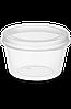 Соусник одноразовый 80 мл. с неразъемной крышкой наружу круглый прозрачный РР NEW 80 шт., фото 2