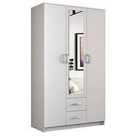 Шкаф LIMA S-3 белый с зеркалом (120х52х205) (Halmar)