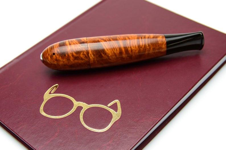 Курительная трубка в виде сигары ручной работы из бриара (Вереска) высокого качества