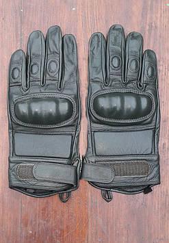 Перчатки кожаные тактические для байкеров, страйкболла