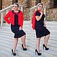 """Женский элегантный комплект платье + пиджак в больших размерах """"Эсмеральда"""" в расцветках, фото 4"""