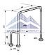 Поручень для инвалидов в туалет п-образный с поворотной ножкой 360°, Ø 32мм - 800х700мм, фото 2