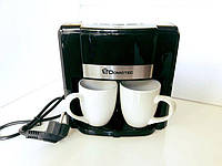 Электро Кофеварка DOMOTEC на 2 Чашки (в комплекте) - 0708