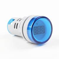 Вольтметр переменного тока AC 22мм 60-450В - синий, фото 1