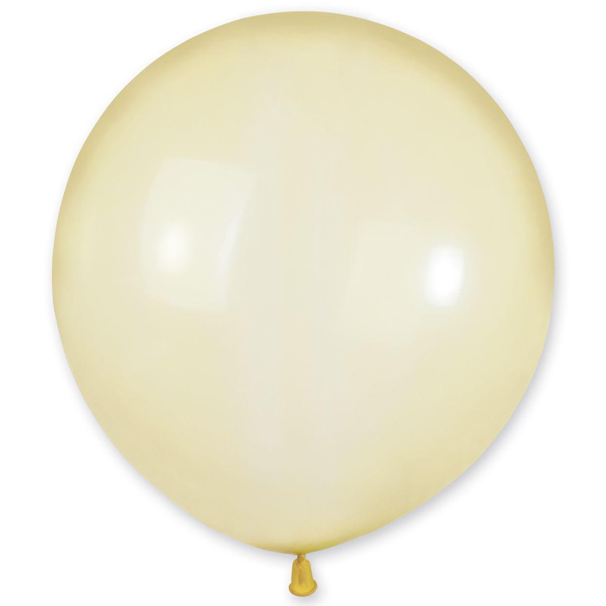Латексные шары 19' кристалл Gemar 15 желтый, (48 см) 10 шт