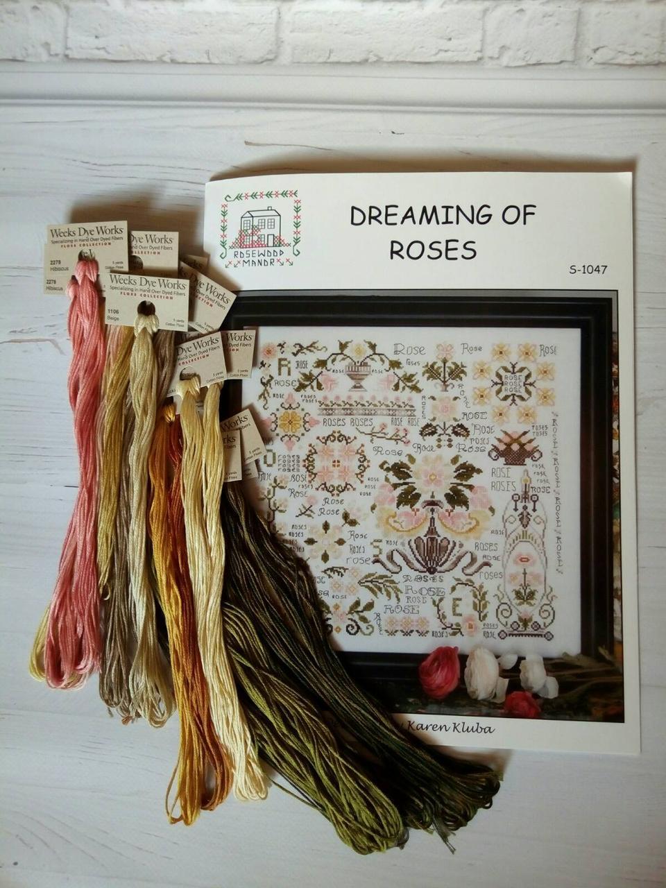 Комплект ниток Weeks Dye Works Dreaming of Roses Rosewood Manor