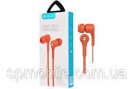 Наушники с микрофоном Celebrat D3 Orange
