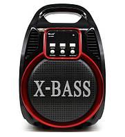 Переносная Колонка Bluetooth X-BASS RX-820-BT LED, пульт + радиомикрофон Караоке
