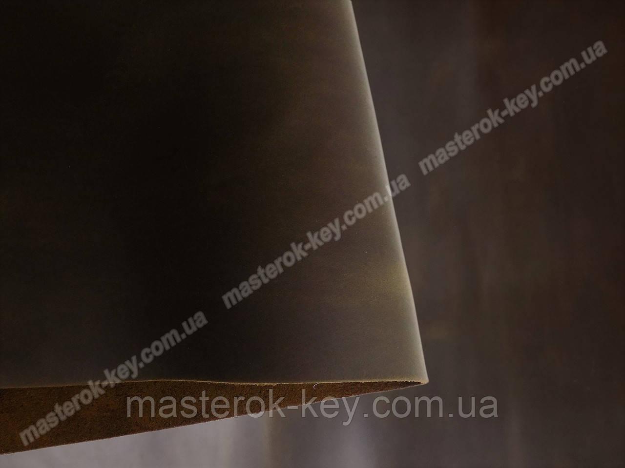 Кожа натуральная Крейзи Хорс т.1,5-1,8мм цвет коричневый