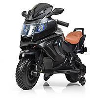 Электромотоцикл детский Bambi M 3681ALS-2 | От 3 до 8 лет, нагрузка до 60 кг | 2 мотора по 18 W | MP3, USB