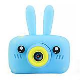 Цифровой фотоаппарат для детей Smart Kids Camera 3 (Голубой Заяц), 20мп, фото 2