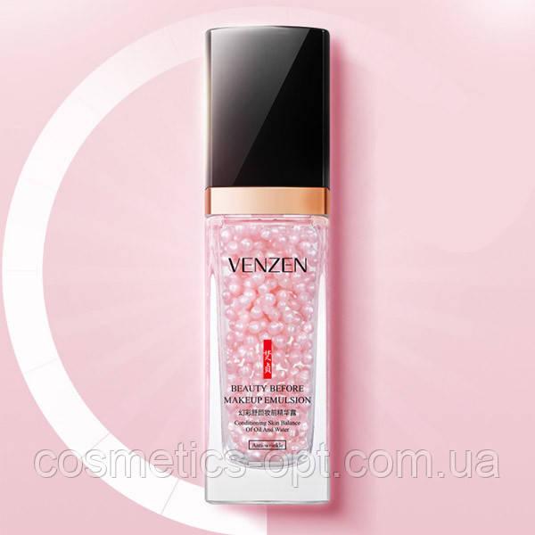 Увлажняющая эмульсия-база под макияж с жемчужной пудрой VENZEN Beauty Before MakeUp Emulsion, 30 мл