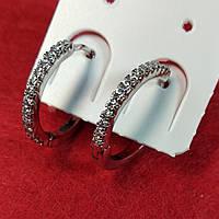 Серьги  кольца Xuping, родий