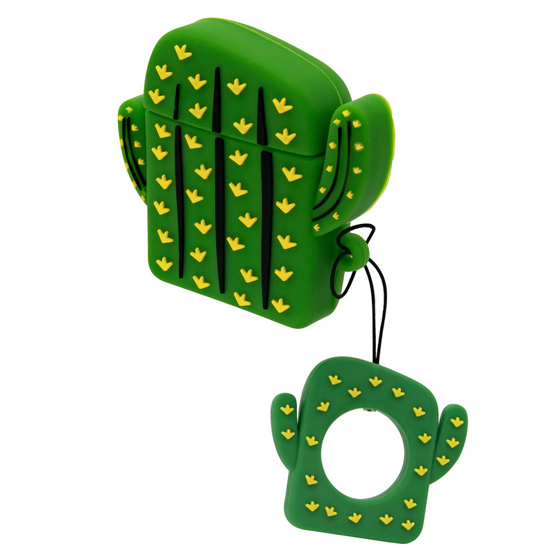 Силиконовый чехол для наушников AirPods Emoji Cactus