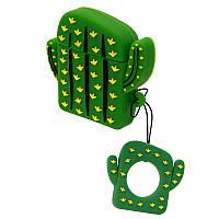 Силиконовый чехол для наушников AirPods Emoji Cactus, фото 1