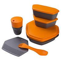 Набор посуды Ланч Crivit, силикон, пластик, ораневый (4032-(or))