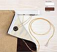 Римская штора рогожка блэкаут, бирюза, милано, система Лайт, фото 2