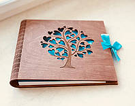 Фотоальбом з дерева, альбом для фото подарунок